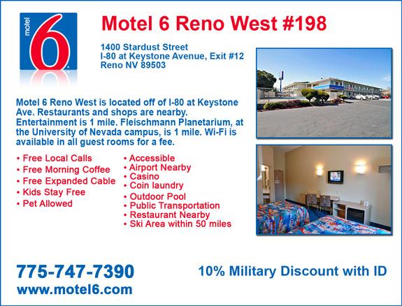 Veteran's View - Motel 6 Reno
