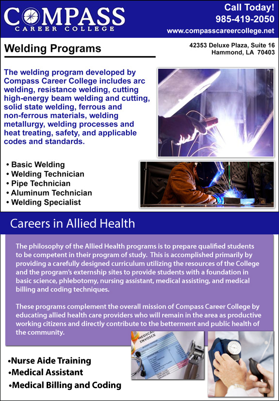 Compass Career College Welding and Allied Health