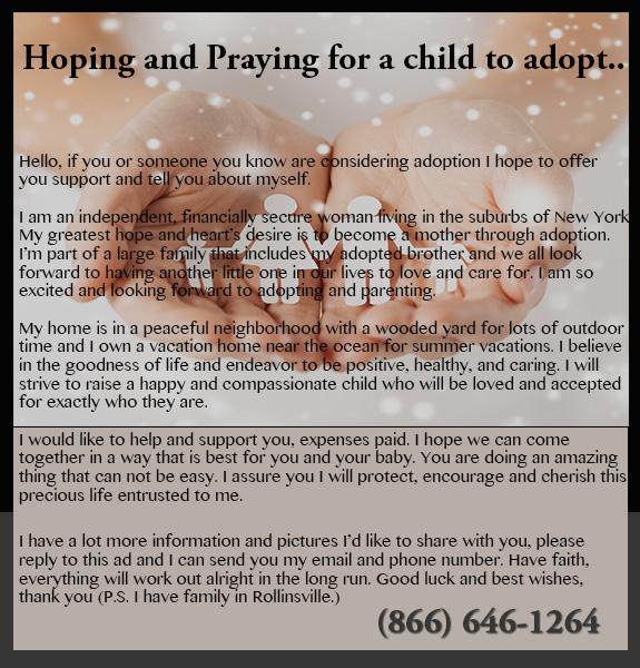 Hoping and Praying to Adopt