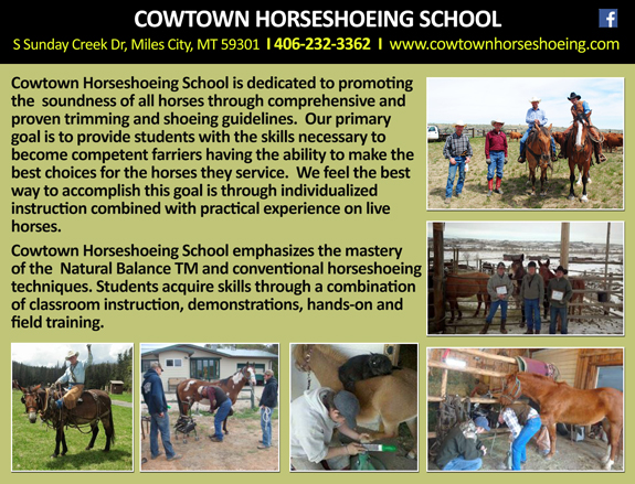 COWTOWN HORSESHOEING SCHOOL
