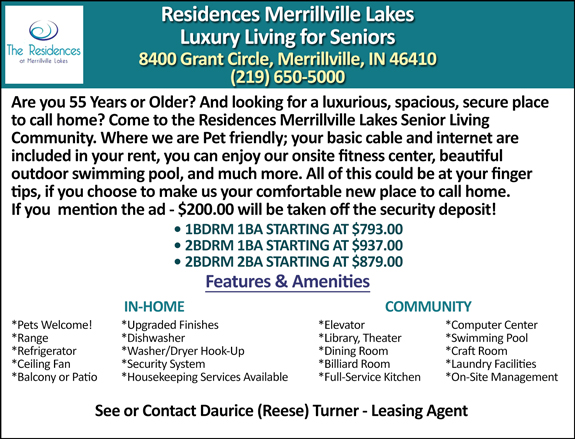 Merrillville Lakes Luxury Living
