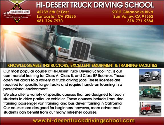 Hi-Desert Truck Driving School