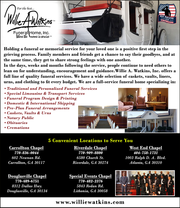 Veteran S View Willie A Watkins Funeral Home Inc