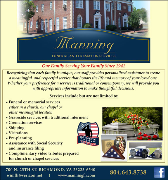 Manning Funeral and cremation services
