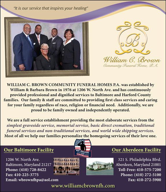 WILLIAM C. BROWN COMMUNITY FUNERAL HOMES P.A.