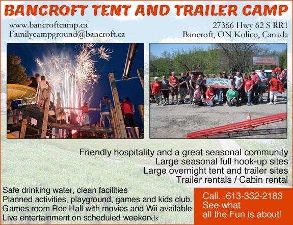 Bancroft Tents & Trailer Camps