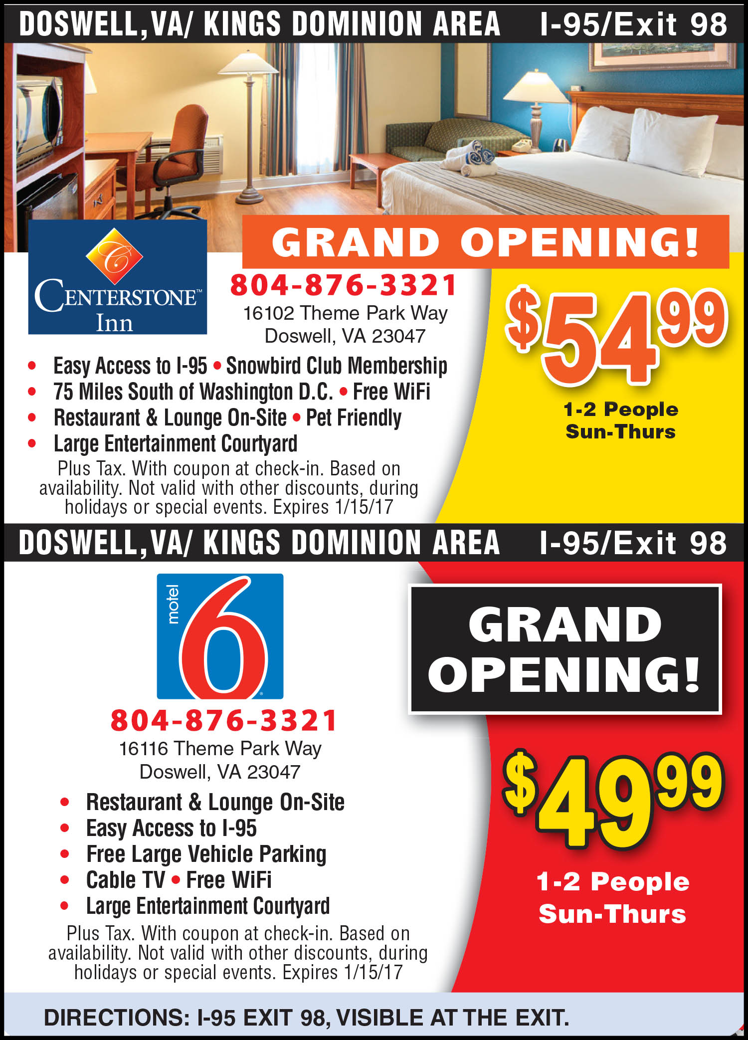 Kings dominion discount coupons - Centerstone Inn