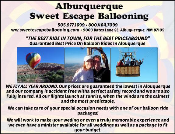 Albuquerque Sweet Escape Ballooning