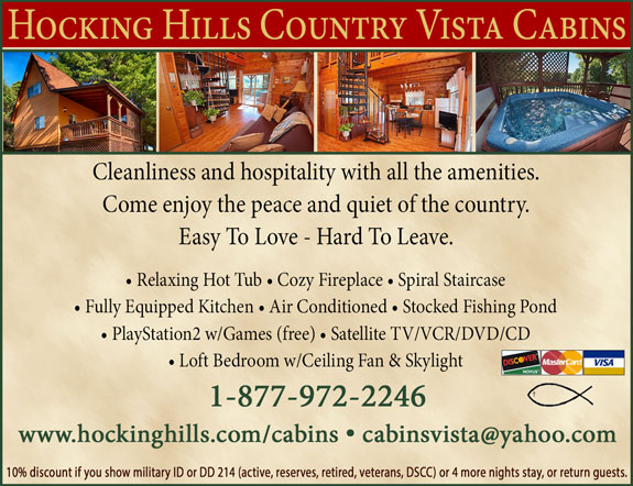 Hocking Hill Country Vista Cabins