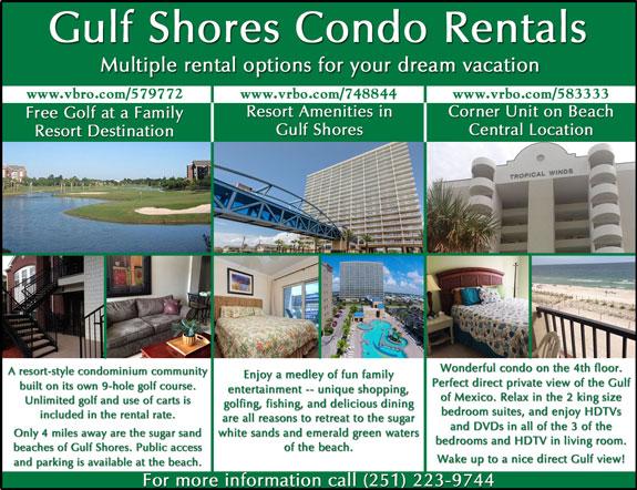 Gulf Shores Condo Rentals