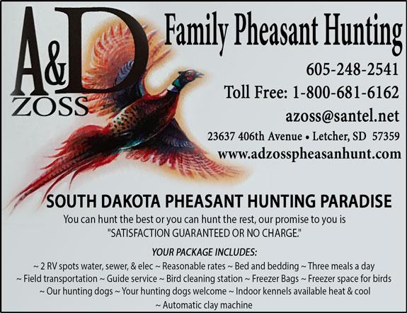 A & D Zoss Pheasant Hunting