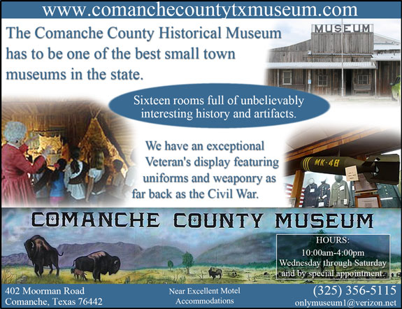 Comanche County Historical Society Museum