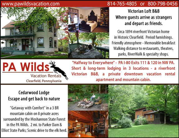 PA Wilds Vacation Rentals