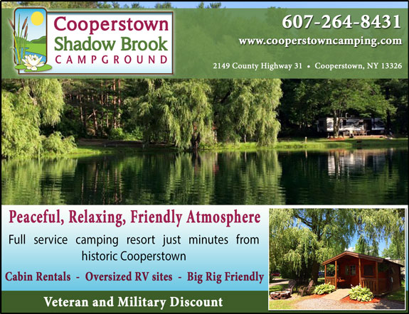 Cooperstown Shadow Brook Campground