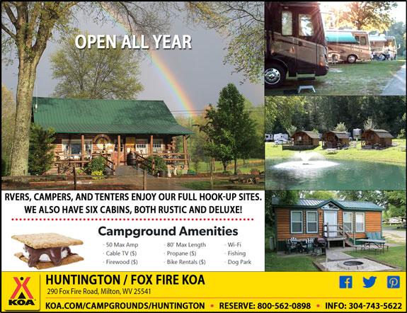 Huntington/Fox Fire KOA Campground