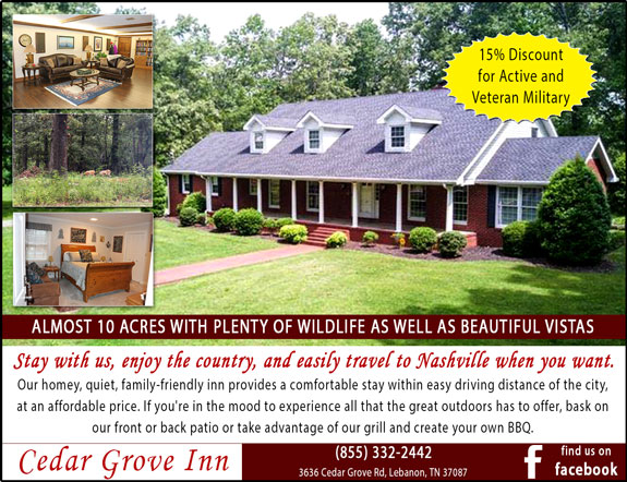 Cedar Grove Inn Bed and Breakfast