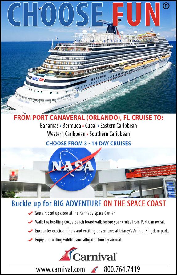 Carnival Cruises - Port Canaveral/Orlando