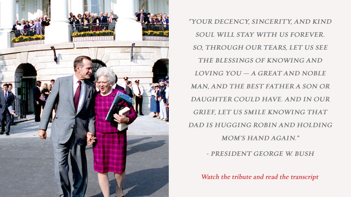 Remarks by President George W. Bush at the State Funeral of President George Herbert Walker Bush